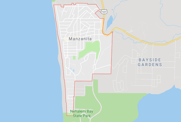 Maps of Manzanita Oregon