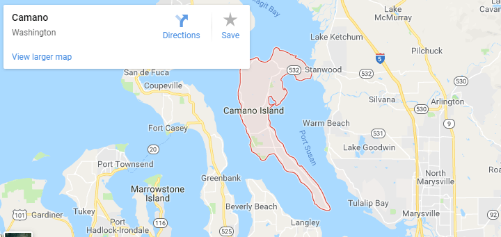 Maps of Camano Island, Mapquest, google, yahoo, driving directions