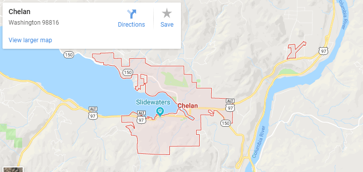 Maps of Chelan, Mapquest, google, yahoo, driving directions