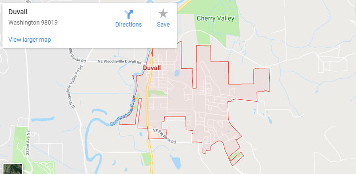 Maps of Duvall, mapquest, google, yahoo, driving directions