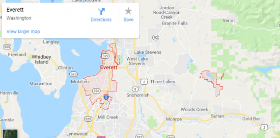 Maps of Everett, mapquest, google, yahoo, driving directions