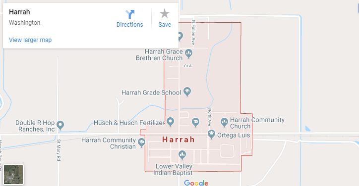 Maps of Harrah, Mapquest, Google, Yahoo, Driving directions