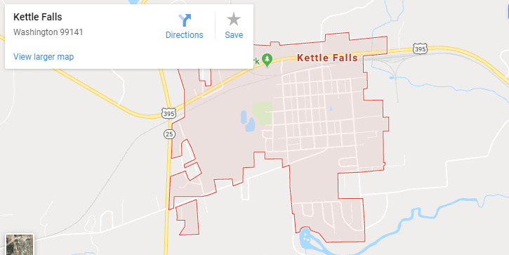 Maps of Kettle Falls, mapquest, google, yahoo, driving directions