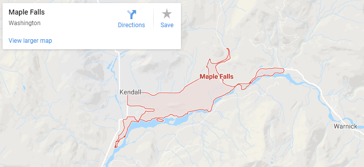 Maps of Maple Falls, mapquest, google, yahoo, bing, driving directions