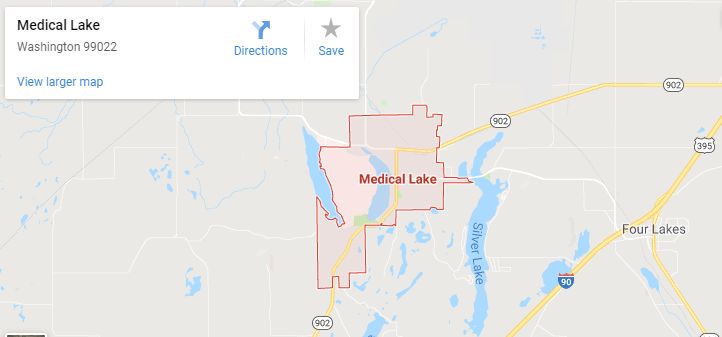Maps of Medical Lake, mapquest, google, yahoo, bing, driving directions
