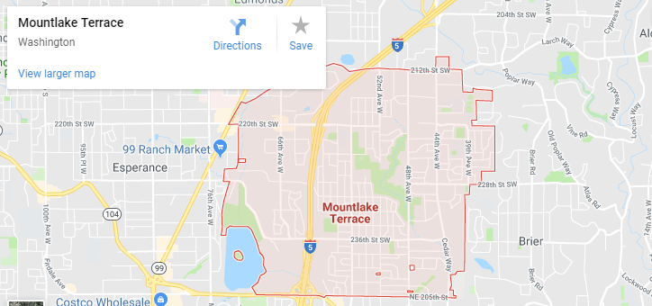 Maps of Mountlake Terrace, mapquest, google, yahoo, bing, driving directions