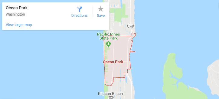 Maps of Ocean Park, mapquest, google, yahoo, bing, driving directions