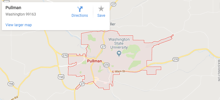 Maps of Pullman, mapquest, google, yahoo, bing, driving directions