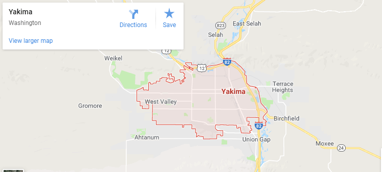 Maps of Yakima, mapquest, google, yahoo, driving directions