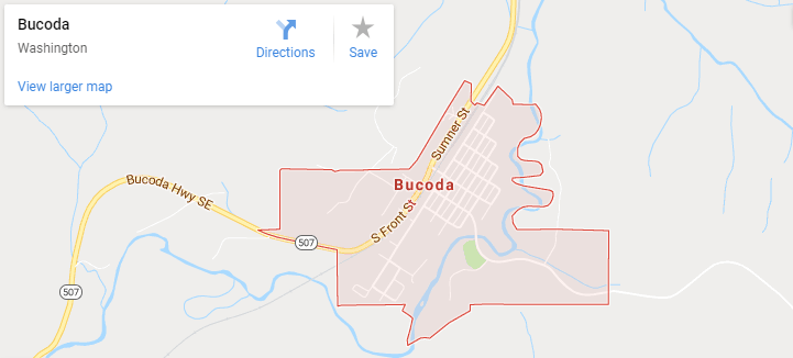 maps of Bucoda, Mapquest, google, yahoo, driving directions