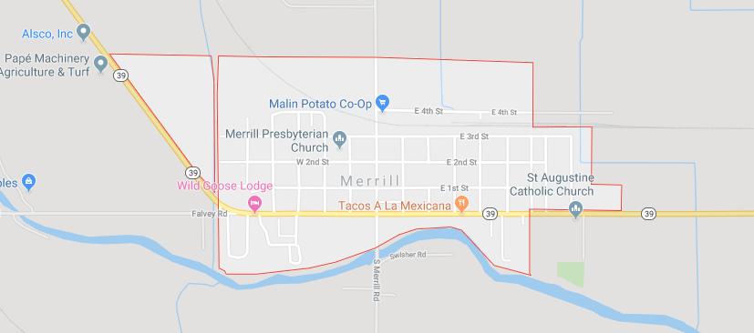 Map of Merrill