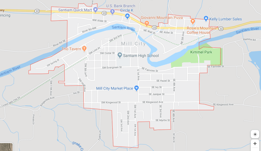 Map of Mill City